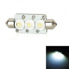 PointPurple S443W Festoon 44mm 3W 270lm 3-LED White Light Car Lamp (DC 12V) 