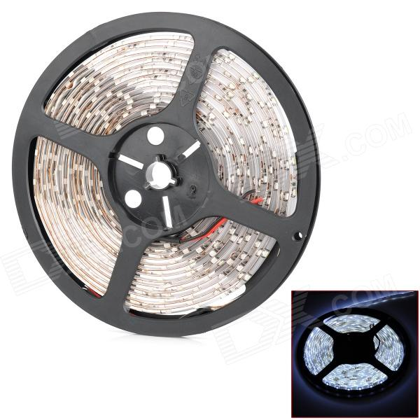 24W 6500K 2400lm 300-SMD 3528 LED White Flexible Lamp Strip (12V / 500cm) jr smd3528 60 w 24w 6500k 1200lm 300 smd 3528 led white flexible lamp strip 12v 5m
