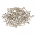 20104 Stainless Steel Keychain Clips - Silver (50 PCS)
