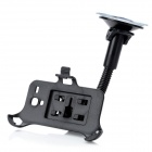 Car Windshield Swivel Rotating Mount Holder w/ Suction Cup for Samsung Galaxy S3 Mini i8190 - Black