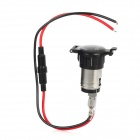 20624 Water Resistance DIY Cigarette Lighter Socket for Motorcycle / Vehicle - Black (DC 12V)