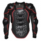 YW002 Motorcycle Riding Race Protective Square Hole Body Armor - Black (Size XL)
