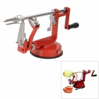 3-in-1 Aluminum Alloy Kitchen Peeler / Corer / Slicer - Red