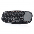 RII i10 Mini Wireless 66-Key Keyboard w/ Mouse + Laser light for HTPC / iPad + More - Black