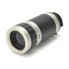 8X Magnification Telescope Lens + Back Case for Iphone 5 - Black