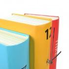 Creative Book Style Desk Clock - Red + Yellow + Light Blue