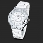 Daybird 3713 Ceramic Band Quartz Women's Wrist Watch w/ Crystal- White (1 x LR626)