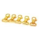 Zinc Alloy Keychain - Golden (5 PCS)