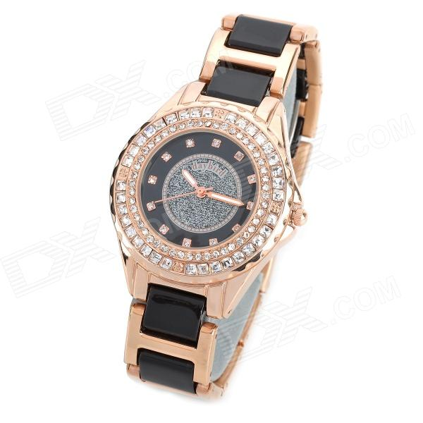 Daybird 3713 Ceramic Band Quartz Women's Wrist Watch w/ Crystal- Golden (1 x LR626) candino часы candino c4606 1 коллекция titanium