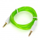 3.5mm Male to Male Audio Cable - Transparent Green + White (100cm)