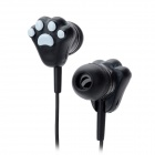 Cat Paw Pattern In-ear Earphone for iPad / HTC / Samsung + More - Black + White