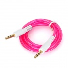 3.5mm Male to Male Audio Connection Cable - Deep Pink + White (100cm)