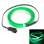 Decorative Flexible 2-Mode Green Light EL Strip w/ Sound Sensor for Car - Green (250cm / DC 12V)