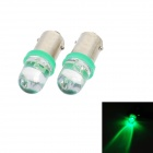 BA9S 0.15W 5lm 1-LED Green Light Car Indicator Bulb - Transparent (2 PCS / DC 12V)