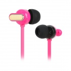 Senmai SM-E1014 Stilvolle Geneigte In-Ear Earphones Flach - Deep Pink (3,5 mm Klinkenstecker / 120cm-Kabel)
