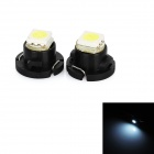 T4.7 0.18W 16lm 1-SMD 5050 LED Cool White Light Car Instrument Lamp (12V / 2 PCS)
