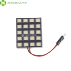 G4 T10 BA9S Festoon 31mm~42mm 10W 7200K 900lm 20-SMD 5050 LED White Steering / Reading Lamp (DC 12V)