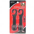 SHUNWEI SD-2503 Car Seat Headrest Hanging Hooks - Black (2 PCS)