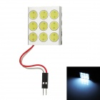 9W 540lm 9-LED White Light Car Reading / Ceiling Lamp Bulb - Silver + Yellow (DC 12V)