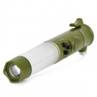 Multifunction Flashlight + Emergency Light + Hammer + Knife Car Emergency Tool - Army Green (2 x AA)