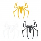 Spider Pattern Universal Motorcycle Reflective Stickers - Black + White + Yellow (3 PCS)