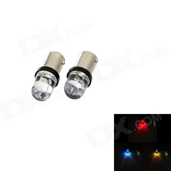 Motorcycle BA9S 0.15W 5lm RGB LED Indicator Lights (12V / 2 PCS)