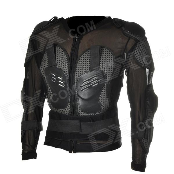 YW001 Motorcycle Body Protection Riding Armor Suit - Black + Grey (Size-L)