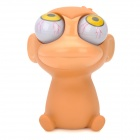 Stress Reliever Rubber Monkey Baby Pop Out Eyes Doll - Brown