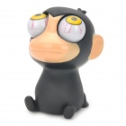 Stress Reliever Rubber Monkey Pop Out Eyes Doll - Black
