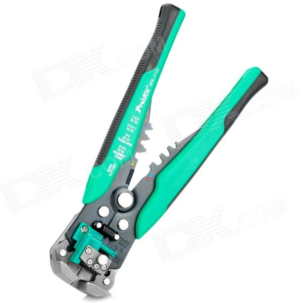 ProsKit 8PK-371D Automatic Wire Stripper Crimper Stripping Tool - Green + Black donolux dl18416 11ww r black white