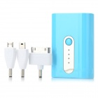 Multifunction 5200mAh Portable External Battery w/ 3 Adapters for iPhone / Samsung / Sharp + More