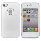 VR Protective Aluminum Alloy Back Case for iPhone 4 / 4S - Silver