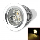GU10 3W 420lm 3800K 3-LED Warm White Light Bulb - Silver (DC 12V)