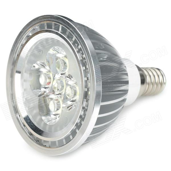 E14 5W 420lm 6500K White 5-LED Spot Light - Silver (220V)