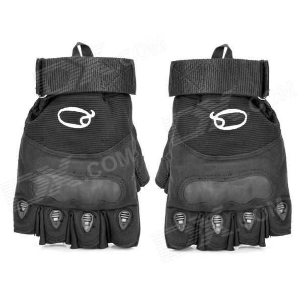 Outdoor Cut-Resistant Anti-Skid Tactical Sports Half Finger Gloves - Black (Size XL / Pair)