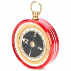 Outdoor Camping Hiking North Arrow Compass - Red