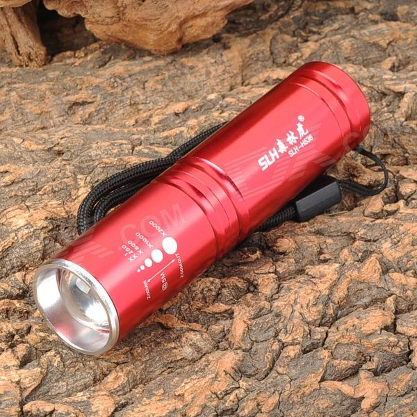 Forest Tiger SLH-H536 200lm 3-Mode White Zooming Flashlight w/ Cree XP-E R2 - Red (1xAA / 1x14500) slh h602 1w led 100lm 1 mode white flashlight silver red 2 x aa