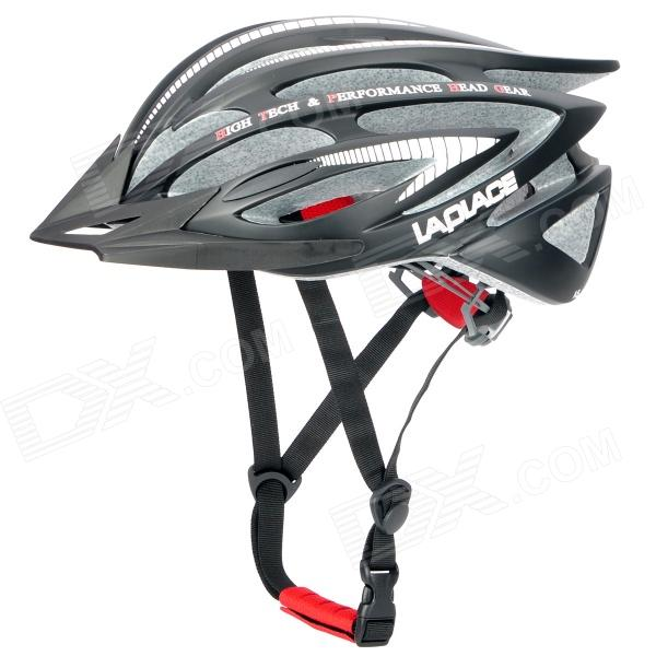 Laplace A5 Outdoor Bike Bicycle Cycling Helmet - Black + White (56~62cm)