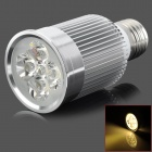 E27 5W 420lm 3800K 5-LED Warm White Light Bulb - Silver (AC 220V)