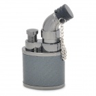 Jobon 635 Stainless Steel Windproof Butane Jet Lighter - Black Grey