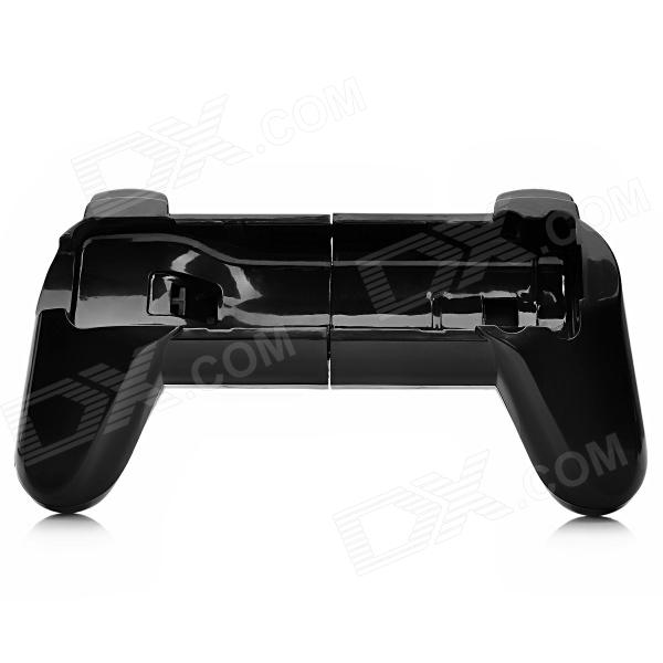 Plastic Retractable Steering Wheel Handle for Nintendo Wii - Black