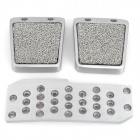Universal Vehicle Aluminum Alloy Non-Slip Anti-Slip Pedal Set for Manual Car - Silver (3 PCS)