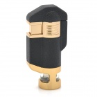 BN617 Windproof Butane Jet Lighter w/ White LED Backlight - Black + Golden (3 x LR621)