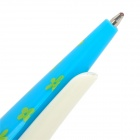 Multi-Function Hairpin Black Ink Ballpoint Pen Bang Clip - Blue