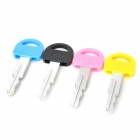 ZX-1212 Creative Cute Car Key Style Blue Point Pens Set - Random Color (4 PCS)