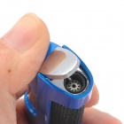 JG-875 Stainless Steel Windproof Jet Blue Flame Butane Lighter - Blue + Black + Silver