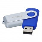 OURSPOP Swivel High Speed USB 2.0 Flash Drive Disk - Deep Blue + Silver (8GB)
