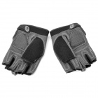 XLY 206 Bicycle Half Finger Moisture Absorption Protective Gloves - Black + Grey (Pair / Size M)