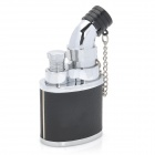 JOBON 635 Windproof Stainless Steel Jet Adjustable Flame Butane Lighter - Black + Silver
