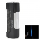 JG-875 Rectangle Stainless Steel Windproof Butane Gas Lighter - Black